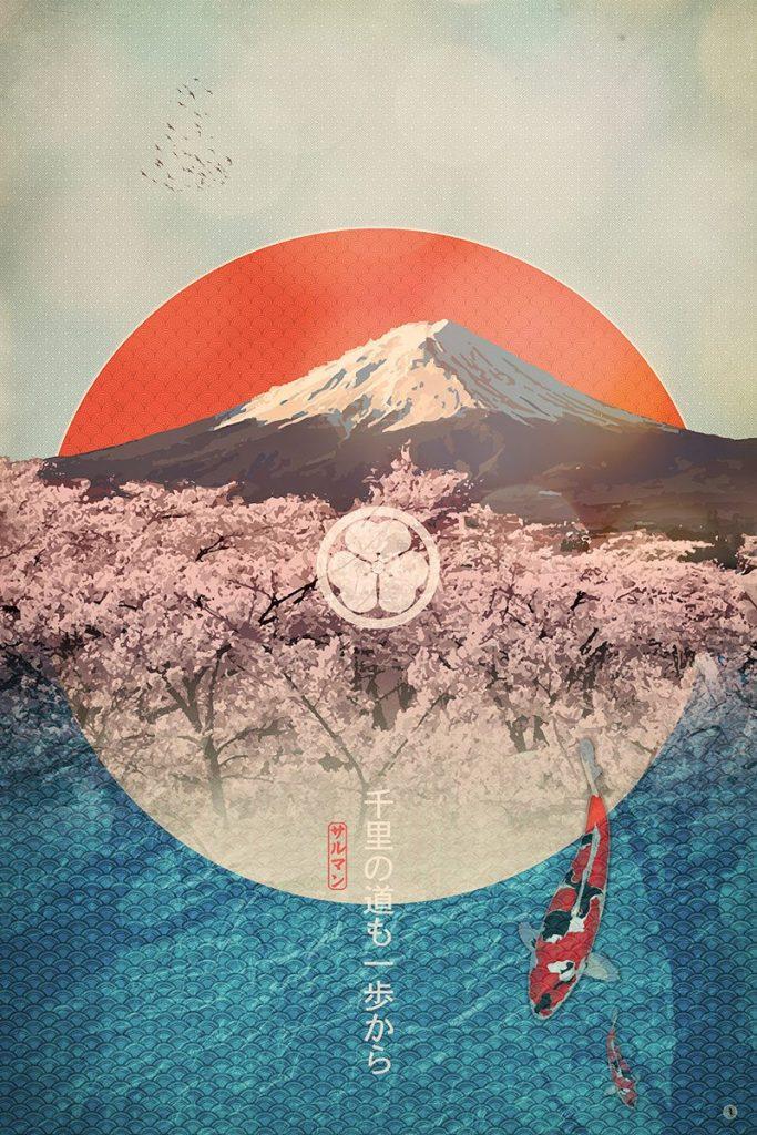 Fujimar Mt Fuji Art Print