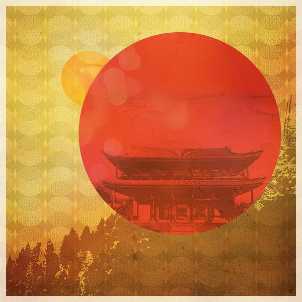 Hilltop Haven Japanese art print