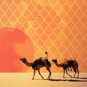 The Traveler Dubai wall art