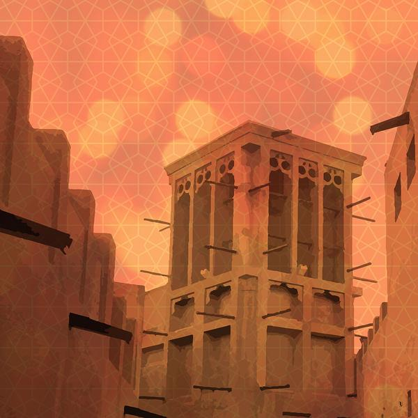 Wind Tower Dubai art print